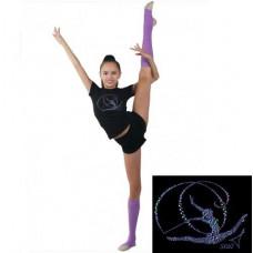 Футболка гимнастка с лентой RG 650.5